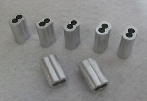 250 Aluminum 3 16 Sleeves Garage Door Cable Wire Swage Home Ohd Repair