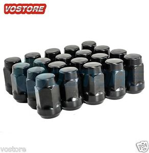 20 14x1 5 Black Lug Nuts For Dodge Magnum Charger Chevy Chrysler 300 Wheels