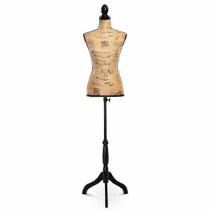 Goplus Female Mannequin Torso Dress Form Display W Black Tripod Stand Designer