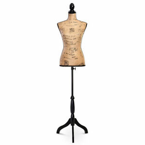 Goplus Female Mannequin Torso Dress Form Display W Black Tripod Stand New