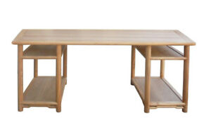 Long Natural Wood Painting Table Office Writing Desk Cs371