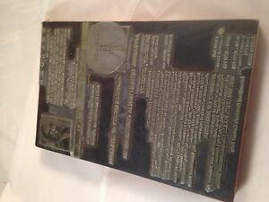 Letterpress Printing Printers Block Wood Metal Appraisers Convention 1999