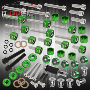D series Honda Acura Cam Cap cup header m8 Fender valve Cover Washers bolt Green
