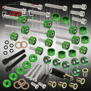 D series Acura Cam Cap cup header m6 Fender Drivet valve Cover Washer bolt Green