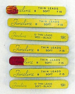 LOT OF 7 SHAEFFER'S FINELINE THIN SOFT LEADS EMPTY TINS