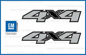 2007 2013 Chevy Silverado 4x4 Decals F Side 1500 2500 Gm Hd Stickers Set