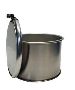 3 Gallon Stainless Steel Open Top Barrel Drum 1mm Thick New