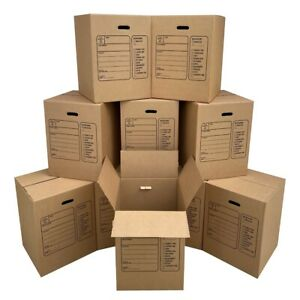 Uboxes Corrugated Moving Boxes With Handles 10 Premium Large 18 X 18 X 24