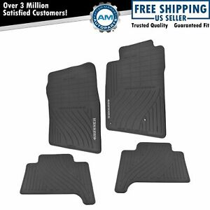Oem Rubber All Weather 4runner Logoed Floor Mats Set Of 4 For Toyota 4runner New