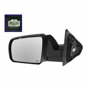 Power Heated Side View Mirror W Smooth Cap Driver Left Lh For Sequoia Tundra