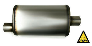 Performance Universal Stainless Steel Muffler 2 25 Inlet 2 25 Outlet