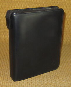 Compact 1 25 Rings Black Fine Leather Franklin Covey Planner binder