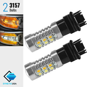 White amber Yellow 3157 Dual Color Switchback Led Turn Signal Parking Light Bulb