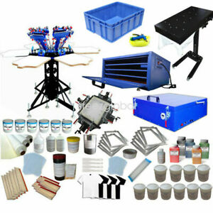 Silk Screen Printing Kit 6 Color Press Equipment Dryer Exposure Diy Consumables