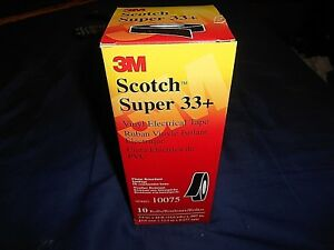 3m Scotch Super 33 Vinyl Electrical Tape 10 Rolls In Box 3 4 X 44 Ft 10075