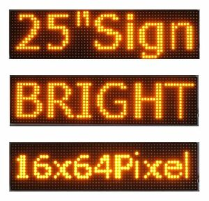 25 x 6 5 Led Sign Programmable Scrolling Window Message Display Yellow P10