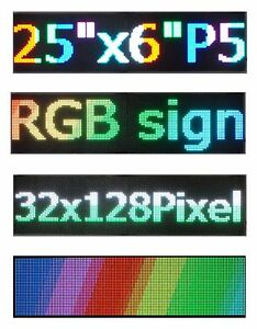 2pcs 25 x 6 5 Rgb Full Color Led Sign Programmable Scrolling Message Display