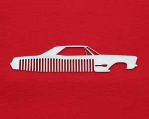 63 65 Buick Riviera Brushed Stainless Steel Metal Trim Beard Hair Mustache Comb