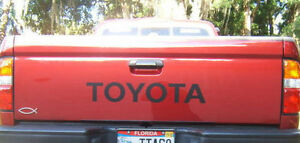 Toyota Tailgate Vinyl Decal Sticker Emblem Logo Graphic Black Lettering Vehicle