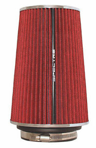 Spectre Air Filter 8 75 In Tall 9732 Cone Air Filter Tall 3 3 5 4 Red