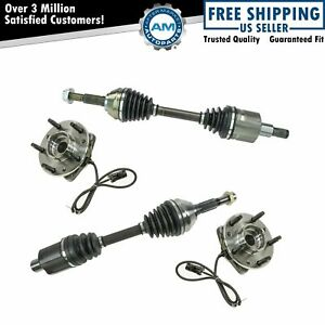 Cv Axle Wheel Bearing Hub Kit Front Left Right Pair For Chevy Gmc Zr2 4wd New