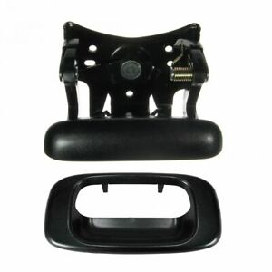 Black Tailgate Tail Gate Handle Bezel Trim Kit For Chevy Gmc Pickup Truck