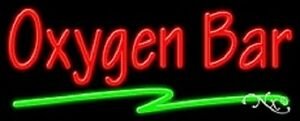 New oxygen Bar 32x13 Real Neon Sign W custom Options 11454