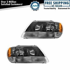 Headlights Headlamps Left Lh Right Rh Pair Set For 99 04 Grand Cherokee Laredo