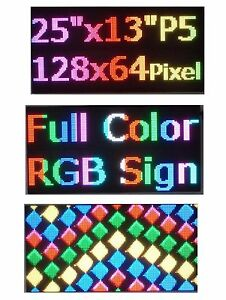 25 x 12 Rgb Full Color P5 Led Sign Programmable Scrolling Message Display