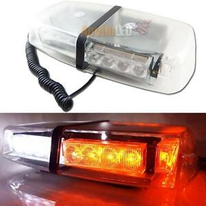 High Power White Amber 24 led Flash Strobe Warning Lights Roof Lamp Snow Plow