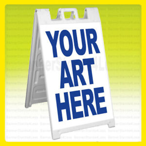 Custom A frame Sidewalk Sign Signicade Sandwich Pavement Sign Print Your Arts