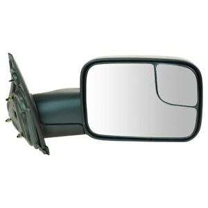 Side View Door Mirror Towing Manual Flip Up Passenger Right Rh For Ram Pickup