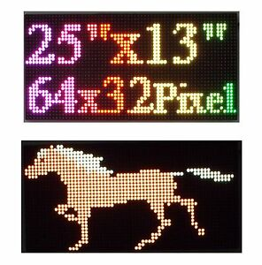 25 x 12 Rgb Full Color P10 Led Sign Programmable Scrolling Message Display