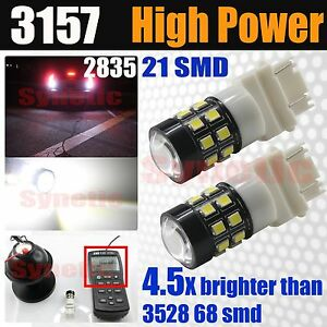 3157 3156 High Power 40w 800lm 6000k White Projector Led Brake Tail Light Bulbs