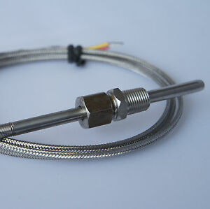 J type Thermocouple Temperature Probe 1 8 Npt Fittings 3 Meter Egt