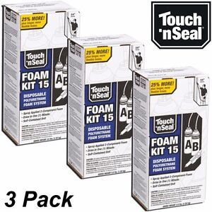 Touch N Seal Diy Spray Foam Insulation Kit 15 Bf Closed Cell qty 3 Full Kits