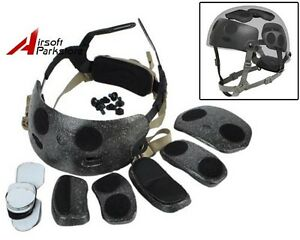 Tactical Helmet Dial Liner Kit for OPS-CORE FAST MICH Helmet Military Airsoft DE
