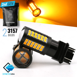 Syneticusa 3157 High Power Led Amber Yellow Front Turn Signal Parking Light Bulb