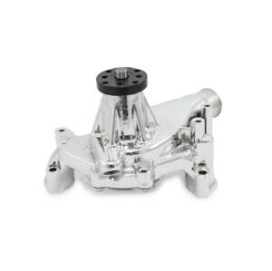 Sbc Chevy 327 350 383 400 406 Long Chrome Aluminum Water Pump Camaro