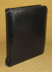 Classic 1 125 Rings Black Fine Leather Franklin Covey Zip Planner binder
