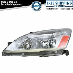 Headlight Headlamp Driver Side Left Lh New For 03 07 Honda Accord