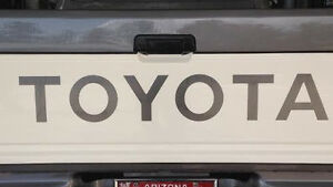 Toyota Tailgate Vinyl Decal Sticker Emblem Logo Graphic Silver 31