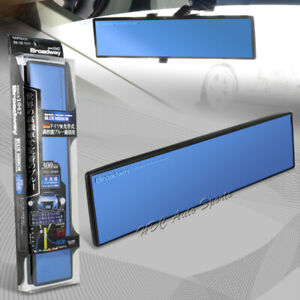 Broadway 300mm Wide Flat Interior Clip On Rear View Blue Tint Mirror Universal 7