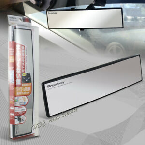 Broadway 300mm Wide Convex Interior Clip On Rear View Clear Mirror Universal 6