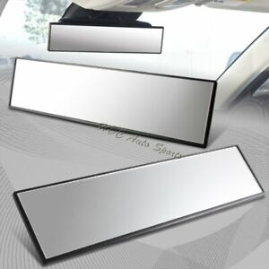 300mm Wide Flat Surface Interior Clip On Panoramic Rear View Mirror Universal 2