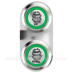 AIR BAG UP amp; DOWN BILLET SWITCH GREEN HOT ROD HOLDEN CHEV FORD WILLYS F100 MOPA AU $89.90