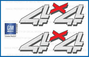 Set Of 2 1999 2006 Chevy Silverado 4x4 Decals F Bed Side 1500 2500 Hd
