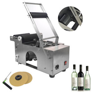 Top Round Bottle Labeling Machin Semi automatic Labeler Coding Mt 50 110v Us