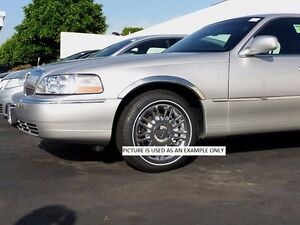 1998 2002 Lincoln Town Car Stainless Steel Fender Trim Moldings 2 Wide 4pc