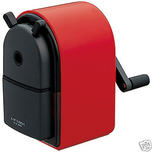 Uni Mitsubishi Hand Crank Pencil Sharpener Kh 20 Red Desk Sharp Import Japan